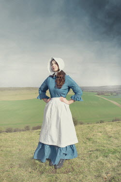 Anna Buczek HISTORICAL WOMAN WITH APRON IN COUNTRYSIDE Women