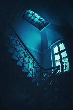 Joanna Czogala DARK STAIRCASE AND WINDOWS IN HOUSE Stairs/Steps