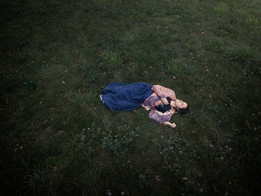 Mary Wethey HISTORICAL WOMAN LYING IN FIELD Women