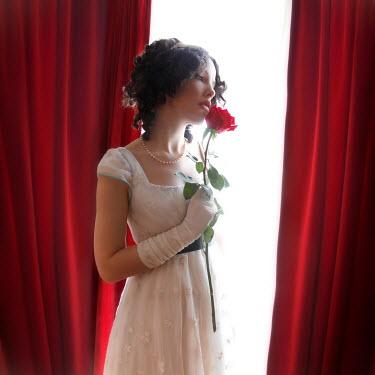 ILINA SIMEONOVA Regency woman with rose by window