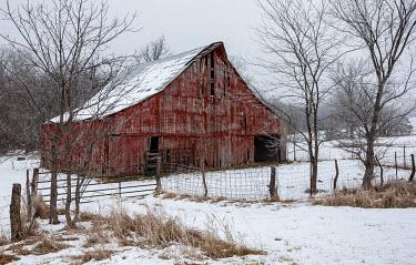 Rodney Harvey Abandoned barn and snow