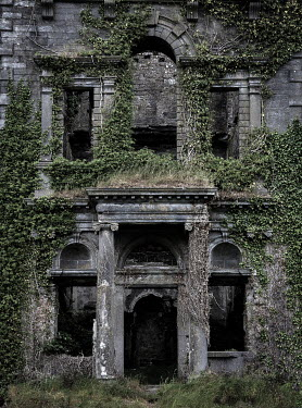 Rodney Harvey Abandoned mansion covered in ivy