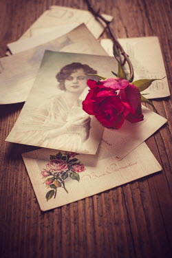 Magdalena Wasiczek Rose with pile of postcards and letters