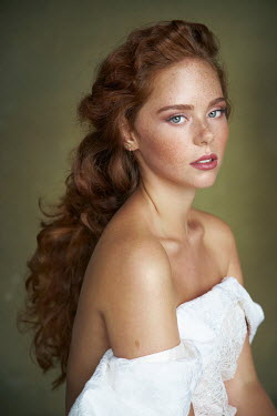 Alexander Vinogradov GIRL WITH RED HAIR FRECKLES AND BARE SHOULDERS Women