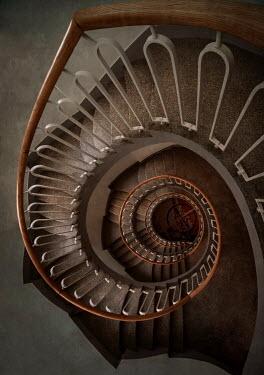 Jaroslaw Blaminsky MODERN SPIRAL STAIRCASE FROM ABOVE Stairs/Steps