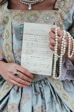 Matilda Delves HISTORICAL WOMAN HOLDING PEARLS AND LETTER