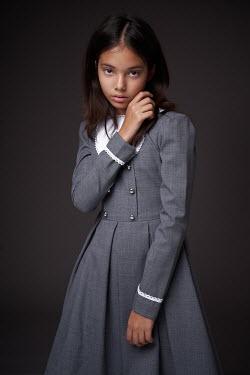 Alexander Vinogradov SERIOUS LITTLE GIRL IN GREY DRESS