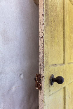 David Baker OPEN DOOR IN OLD SHABBY HOUSE