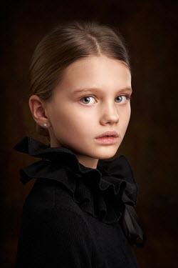 Alexander Vinogradov LITTLE GIRL IN FRILLY BLOUSE