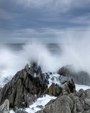 David Baker JAGGED ROCKS WITH STORMY SEA