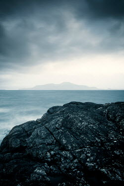 David Baker SEA AND ROCKS WITH DISTANT ISLAND