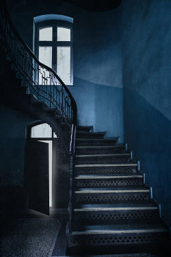 Joanna Czogala EMPTY STAIRCASE WITH OPEN DOOR