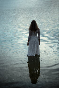 Magdalena Russocka woman standing in lake