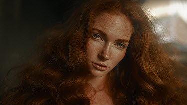 Georgy Chernyadyev SERIOUS WOMAN WITH RED HAIR AND FRECKLES