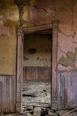 Rodney Harvey LEANING DOORWAY IN DERELICT HOUSE