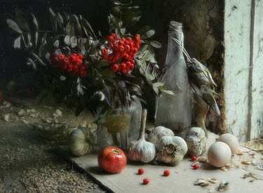 Andreeva Svoboda FISH GARLIC TOMATO EGGS AND BERRIES