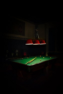 Evelina Kremsdorf SNOOKER TABLE WITH LIGHTS AND SHADOW