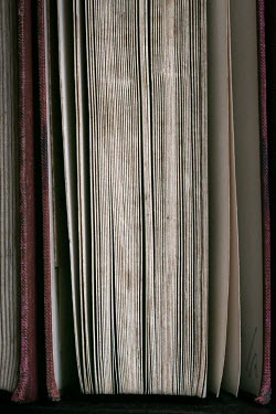 Lisa Bonowicz CLOSE UP OF PAGES OF OLD BOOK