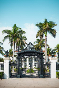 Evelina Kremsdorf GRAND HOUSE WITH GATES AND PALM TREES