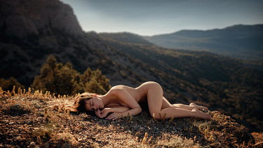 Georgy Chernyadyev Naked woman sleeping on hill