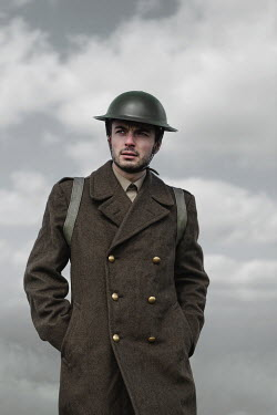 Magdalena Russocka close up of wartime soldier standing in field