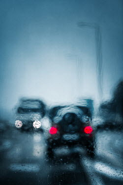Magdalena Russocka cars on road through wet glass