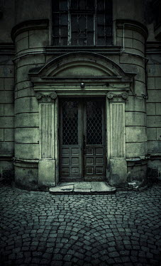 Jaroslaw Blaminsky DOORWAY OF OLD BUILDING WITH COBBLESTONES
