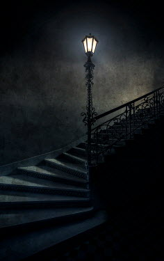Jaroslaw Blaminsky HISTORICAL STAIRCASE WITH SHINING LAMP