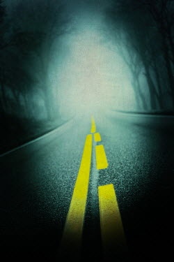 Magdalena Russocka empty misty motorway