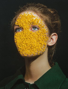 Tijana Moraca WOMAN WITH YELLOW PETALS ON FACE