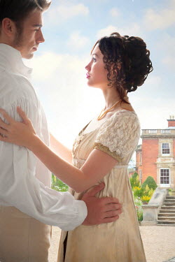 Lee Avison regency lovers in the grounds of a country house