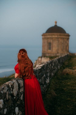 Rebecca Stice WOMAN IN RED BY SEA AND HISTORICAL FOLLY