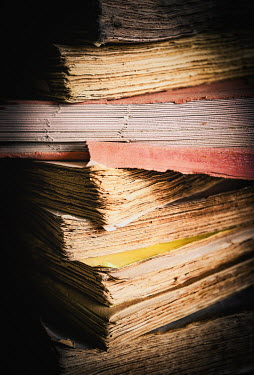 Jane Morley STACK OF OLD WORN BOOKS