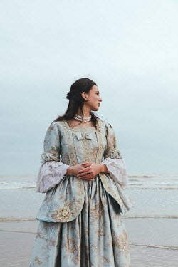 Matilda Delves HISTORICAL BRUNETTE WOMAN STANDING BY SEA
