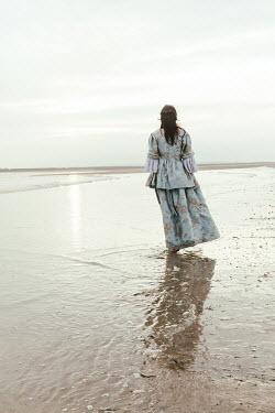 Matilda Delves HISTORICAL BRUNETTE WOMAN STANDING IN SEA