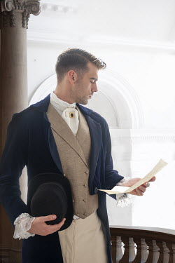 Lee Avison regency man reading a letter