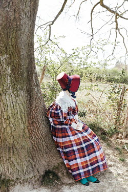 Matilda Delves HISTORICAL WOMAN SITTING BY TREE WITH LETTER
