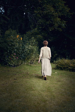 Magdalena Russocka woman walking in garden