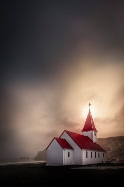 Evelina Kremsdorf SMALL CHURCH NEAR SEA AT DUSK