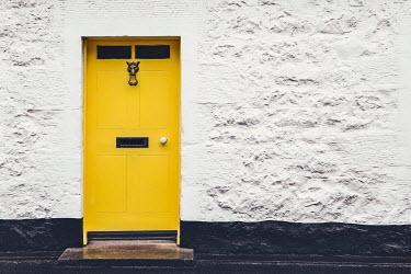 Evelina Kremsdorf EXTERIOR OF WHITE HOUSE WITH YELLOW DOOR