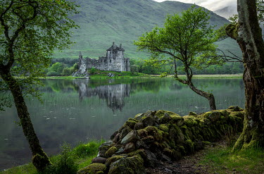 Rodney Harvey RUINED CASTLE BY LAKE AND HILLS