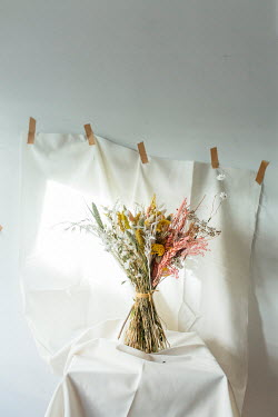 Shelley Richmond DRIED FLOWERS WITH WHITE CLOTH