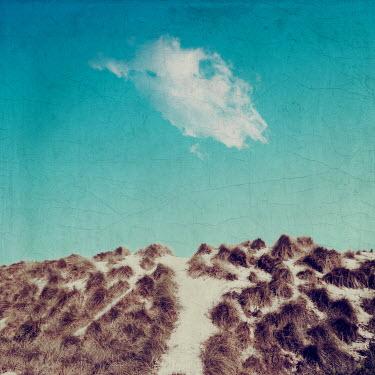 Dirk Wustenhagen SAND DUNE WITH CLOUD AND BLUE SKY