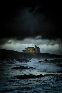 Nic Skerten LIGHTS IN HOUSE BY STORMY SEA