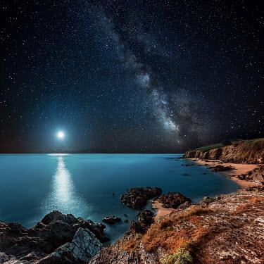 David Keochkerian SEA WITH MOON AND STARRY SKY