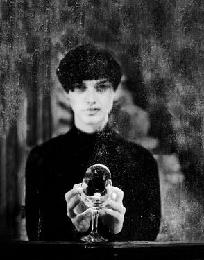 Svitozar Bilorusov WOMAN WITH SHORT HAIR AND BROKEN GLASS