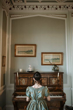 Shelley Richmond REGENCY WOMAN PLAYING PIANO IN HOUSE