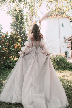 Jovana Rikalo WOMAN IN SILK GOWN BY WHITE CASTLE