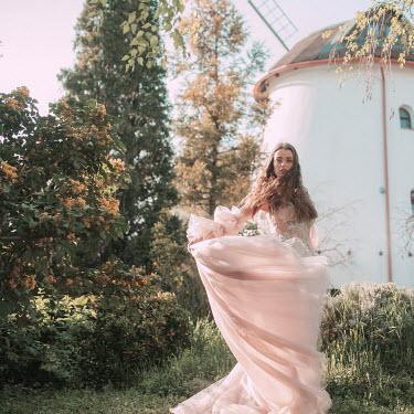 Jovana Rikalo WOMAN IN SILK GOWN BY WINDMILL