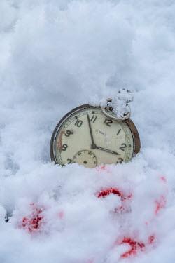 Stephen Mulcahey OLD POCKET WATCH LYING IN BLOODY SNOW